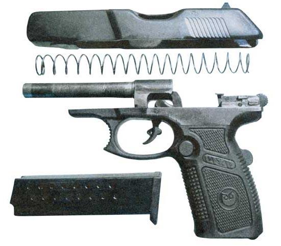 затворов пистолетов из